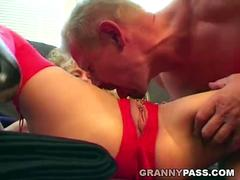 Horny Guys Fucks Tattoed Granny