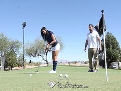 PureMature Golf teacher fuck with busty mature Audrey Bitoni