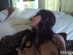 Step dad sleeps with mom and playfellows daughter Swalloween Fun