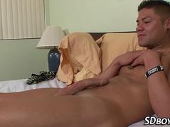 Military hunk solo cums