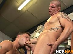 built hunk facialized masturbation