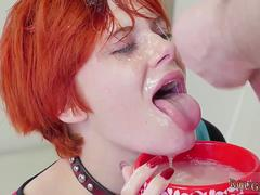 Girl ts dominates Cummie the Painal Cum Cat