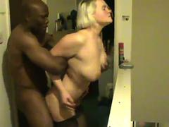 British wife is fucked hard by her black lover in front of her husband