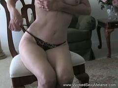 Granny is teasing naked and getting scored in closeup for a webcam show