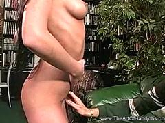 Exotic Brunette MILF JerkTime For Lucky Horny Dude