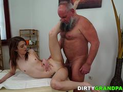 Pleasing babe is excited to suck that massive cock and get banged in different positions by this handsome folk