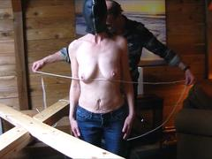 St. Andrews Cross, tied, clamped and clipped-Full