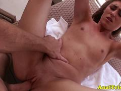 Tricked girlfriend anally pounded by her bf