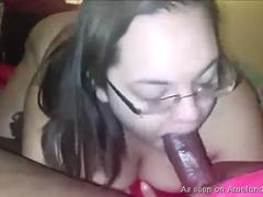 nerd slut wants to take that huge cock and suck it deeply and sensually to satisfy her lover