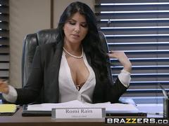 Brazzers - Big Tits at Work - Pressing News scene starring Romi Rain and Xander Corvus