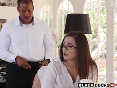 Sexy woman Gabriella Paltrova ass fucked by black man