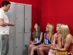 English cheerleaders dominating sub in group