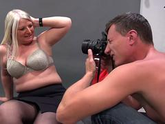 German housewife gets fucked hard in the photoshoot