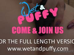 Wetandpuffy - Big Black Dildo Play