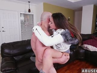 Girl crying from rough anal Babysitters love stiff cock