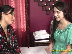 Stepmom Gives Lesbian Massage to a Teen