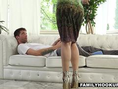 FamilyHookups- Hot Stepmom Sucked My Cock In Exchange For Chores