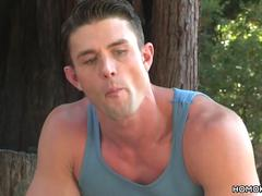 Ryan Rose and Casey Everett fucks in the woods