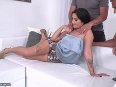 Hot hungarian babe got double penetrated
