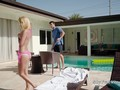 College teen seduces and bangs pool guy