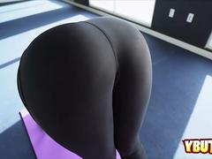 Yoga instructor banging hot milf