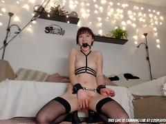 Tied My Little Submissive Up For Fun..