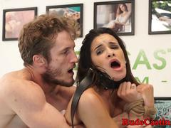 Real amateur hardfucked at casting couch