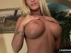 Big tits blonde gets fucked by a baldy