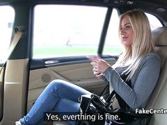 Blonde banged by fake taxi driver