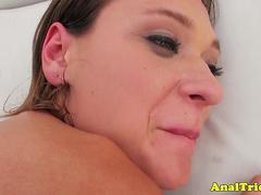 Amateur girlfriend tries anal after spa