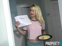 PropertySex Petite Blond Anastasia Knight Fucks Roomate