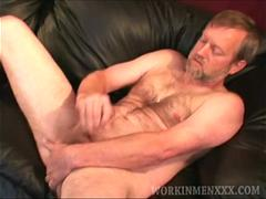 Mature Amateur Clay Jerking Off