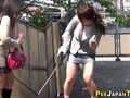 Asian seen peeing herself