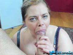 Look At This Cute Little BBW Face Fucked....