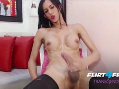 Nata Rose - Flirt4Free Transgender Model - Babe Shemale Twerks Her Big Ass and Strokes Fat Cock