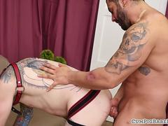 Red panda cums while assfucked bareback