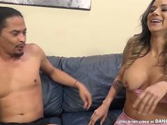 Squirting interracial fuck with Nadia Styles