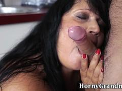 Buxom granny mouthful