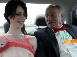 3 old guys anal-ize a young small girl