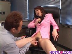 Charming vixen Maria Fujisawa enjoys getting nailed by mature stud - More at hotajp.com