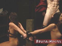 Extreme brutal anal gangbang hd Two youthfull sluts Sydney Cole and Olivia Lua our down