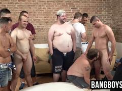 Secret bareback orgy with masked studs and jocks