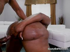 Ebony Skank Victoria Cakes Gets Bent Over And Fucked