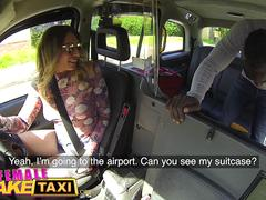 Female Fake Taxi Horny Ava Austen cant resist a big thick black cock