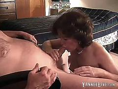 SKINNY MATURE GETS ASS AND MOUTH FUCKED