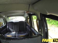 Fake Taxi Squirting blonde fingered and fucked by big cock cab driver