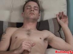 Scally punk solo tugging hard cock