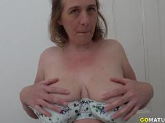 British big breasted housewife Camilla fooling around