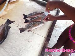 Another day out fishing with asian thai teen heather deep and get blowjob