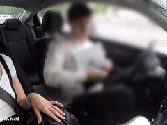 Flashing a manager during test driving a new car